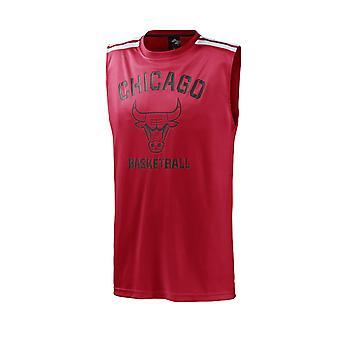 Adidas Basketball Jersey NBA Chicago Bulls Männer rot / schwarz