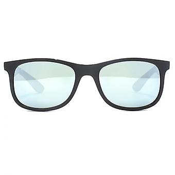 Ray-Ban Junior Wayfarer Sunglasses In Matte Black Grey Mirror
