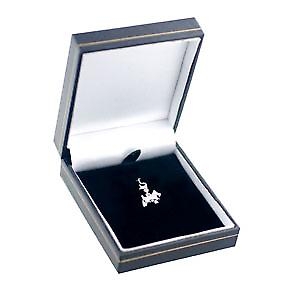 Silver 17x13mm Scottie Dog Charm on a lobster trigger