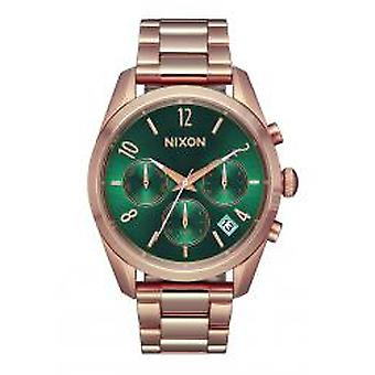 Nixon The Bullet Chrono 36 All Rose Gold / Emerald (A9492806)