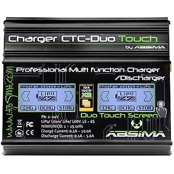 Scale model battery charger 110 V, 230 V 10 A Absima CTC-Duo Tou