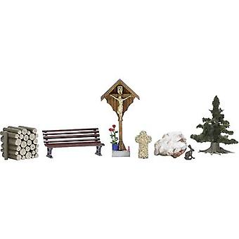 Busch 1148 H0 Wayside cross and accessories