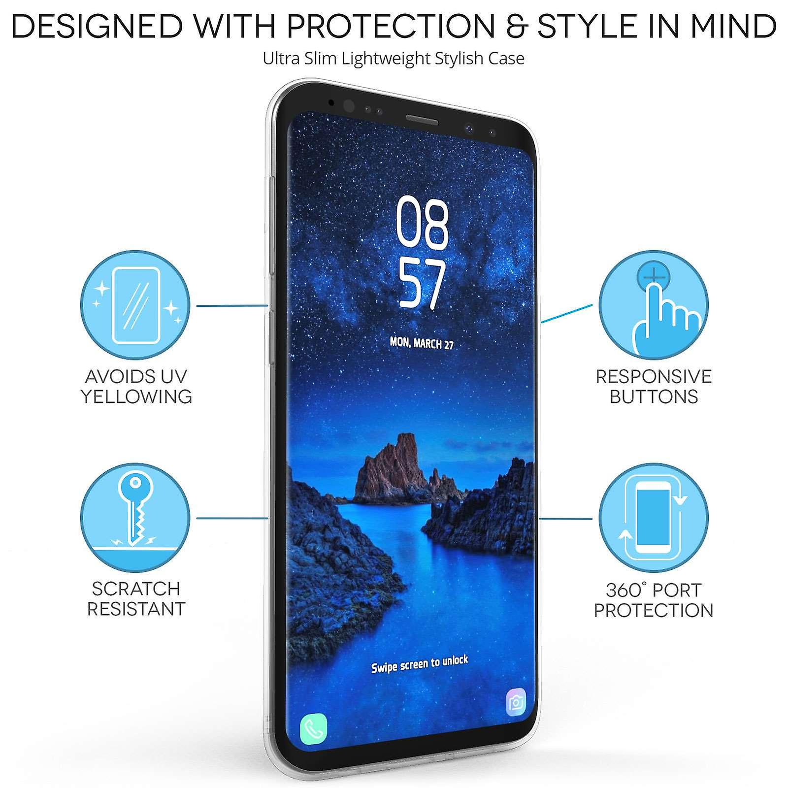 Samsung Galaxy S9 Plus Fairisle Jumper TPU Gel Case – Black