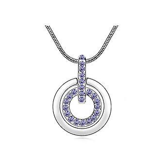 Womens lila cirkel halsband
