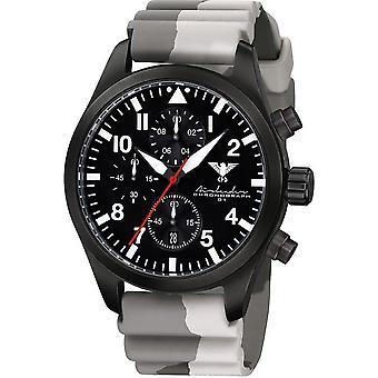 KHS Herrenuhr Airleader black steel chronograph KHS. AIRBSC. DC5