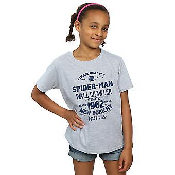 Marvel Mädchen Spider-Man feinste Qualität T-Shirt