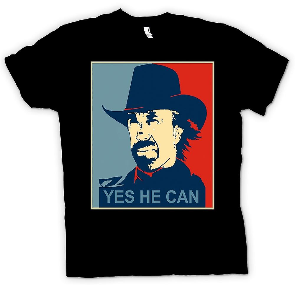 Womens T-shirt - Chuck Norris Obama - Yes He Can