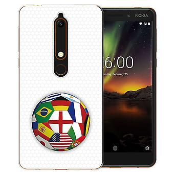 Nokia 6 Coppa del mondo (2018) bandiere TPU Custodia in Gel