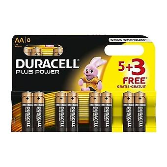 Duracell Plus Power AA 5+3 Free