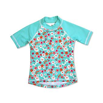 Banz Girls UV Short Sleeved Rash Top - Flowers
