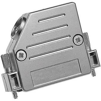 D-SUB housing Number of pins: 25 Plastic, metallised 45 ° Silver Provertha 47250M25T001 1 pc(s)