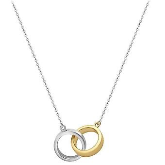 IBB London Interwined Rings Necklace - Yellow Gold/Silver