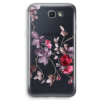 Samsung Galaxy J5 Prime (2017) Transparent Case (Soft) - Pretty flowers