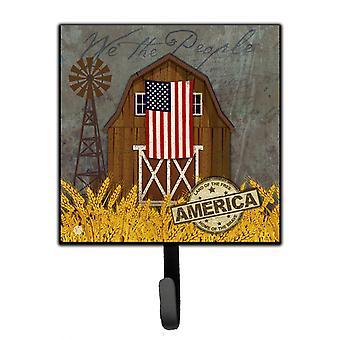 Patriotic Barn Land of America Leash or Key Holder