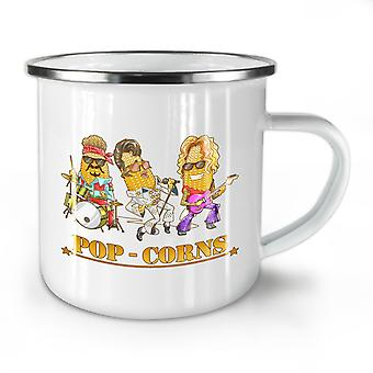 Pop Corn Idols NEW WhiteTea Coffee Enamel Mug10 oz | Wellcoda