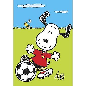 Peanuts Poster Snoopy  Snoopy mit Fußball