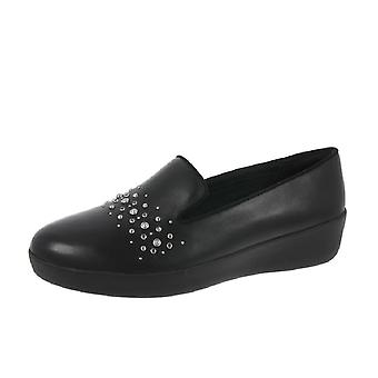 FitFlop Audrey Pearl Stud Smoking Shoes