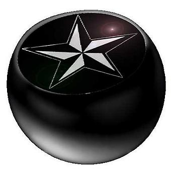 Piercing Replacement Ball Black, Body Jewellery, Nautical Star | 1,6 x 5 and 6 mm