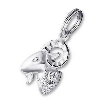 Aries Zodiac sign - 925 Sterling Silver Charms with Split ring - W20001X