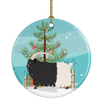 Welsh Black-Necked Goat Christmas Ceramic Ornament