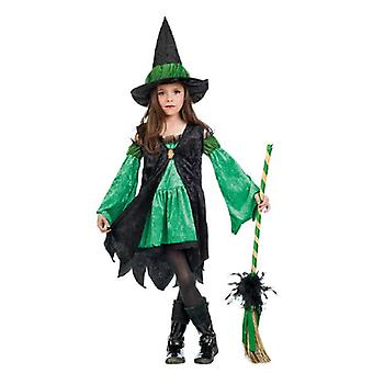 Witch costume children girl costume Green Witch child costume witch costume