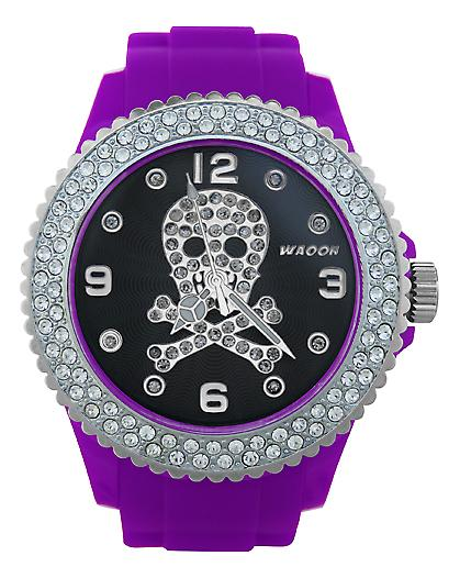 Waooh - FC38 Watch Dial with Rhinestone Death Head