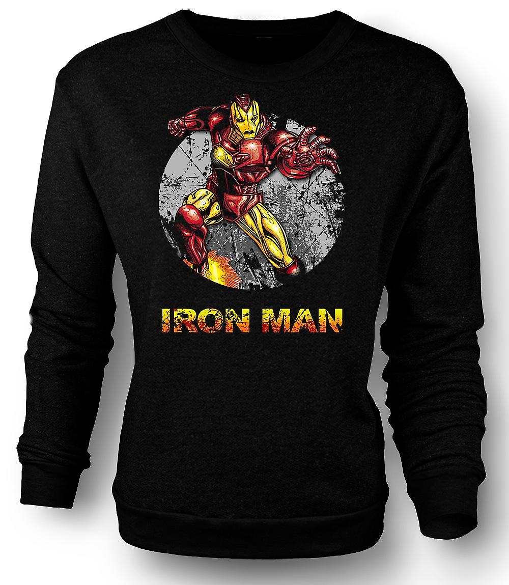 Mens Sweatshirt Iron Man - komiska Super hjälte