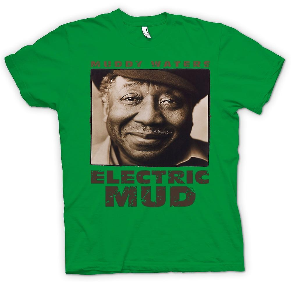 Mens T-shirt - Muddy Waters Electric Mud Blues - Guitar - Icon