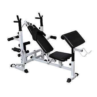Banc de musculation universel avec support pour haltère sport fitness musculation 0702057