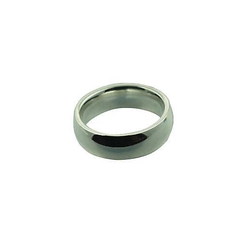 Platinum 6mm plain Court Wedding Ring Size L