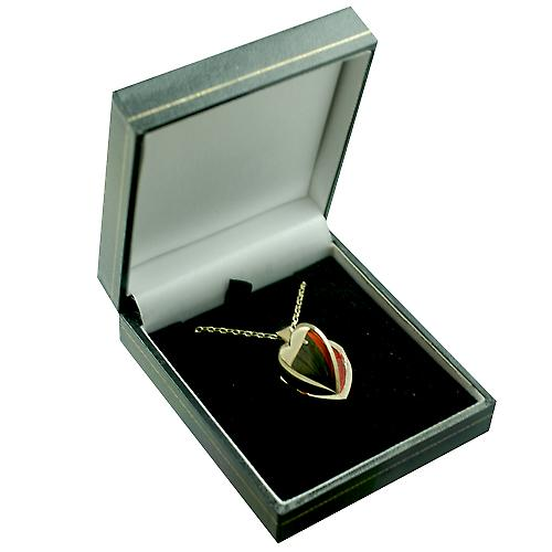 9ct Gold 21x19mm plain heart shaped Locket with a belcher Chain 16 inches Only Suitable for Children