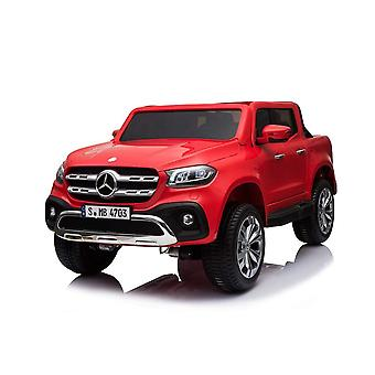 Licensed Mercedes-Benz X Class 12V Kids Electric Ride On Car Two Seater - Red