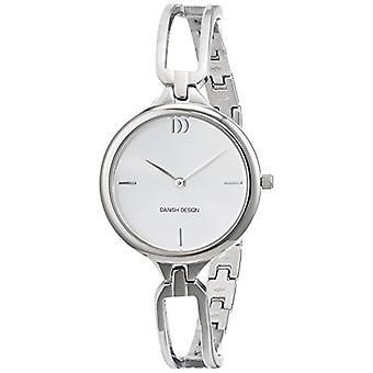 Quarz Uhr Edelstahl Armband Silber analoge Anzeige, dänisches Design und einem silbernen Zifferblatt 3324585