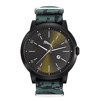 Cougar tijd bevrijd pols horloge, analoog, Nylon band, zwart/groen Militario