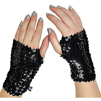Mh Arm Warmer Bk Sequin Child
