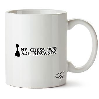 Hippowarehouse min sjakk ordspill er Apawning trykt krus Cup keramiske 10 Unzen