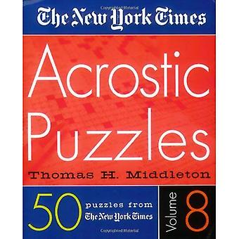 Le New York Times Puzzles acrostiche Volume 8