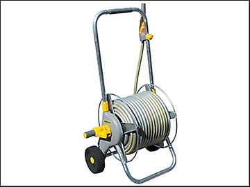 Hozelock 2436 Metal Hose Cart + 30 Metres of 12.5mm Hose & Fittings