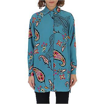 Etro Light Blue Silk Shirt