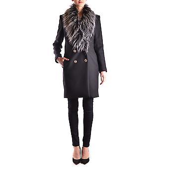 Elisabetta Franchi Black Wool Coat