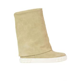 Casadei Beige Suede Ankle Boots