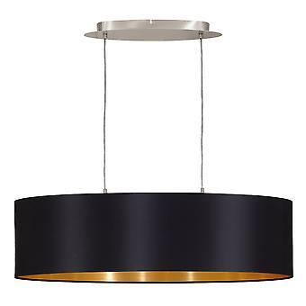 Eglo - Maserlo 2 colgante Oval con luz techo ligero satén del níquel negro EG31611