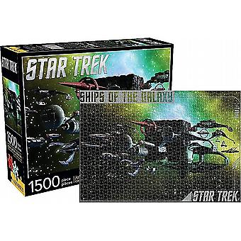 Star Trek Ships Of The Galaxy 1500 piece jigsaw puzzle  830mm x 570mm (nm 68007)
