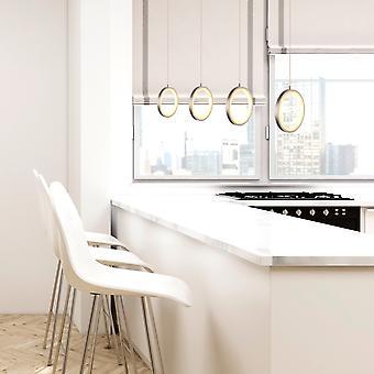 Pendentif lumineux LED suspendus vivant tableau de plafond 4 pendentif rectangulaire couvert de Nickel