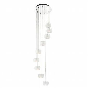Endon 61803 Seymour 9 Light Ceiling Pendant Light with Crystal Glass S