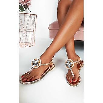 IKRUSH dame Saskia Juveleret T-bar sandaler