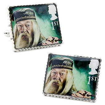 Harry Potter Professor Dumbledore Stamp Style Boxed Cufflinks