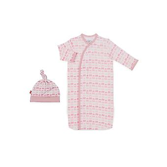 Magnetic Me™ von Magnificent Baby Modal Gown & Hat Set