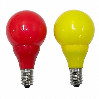Konstsmide 5684-520 Yellow-Red Spare LED Bulb x 2