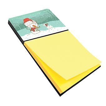 Jack Russell Terrier Snowman Christmas Sticky Note Holder